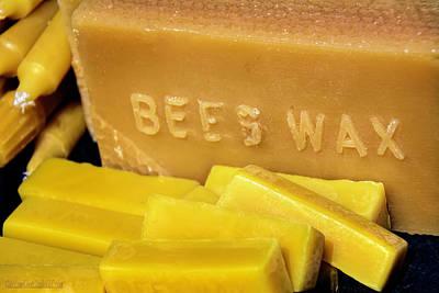 Candle Photograph - Bees Wax Candles by LeeAnn McLaneGoetz McLaneGoetzStudioLLCcom