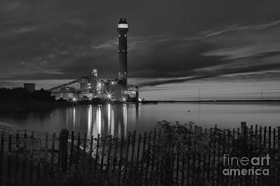 Beesley's Point Black And White Sunset Print by Adam Jewell