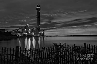 Beesley's Point Sunset Black And White Print by Adam Jewell