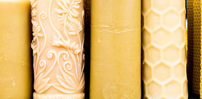 Candle-abstract Photograph - Beeswax Candles by Tom Gowanlock