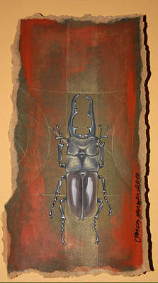Mixed Media - Beetle I by Gonca Yengin