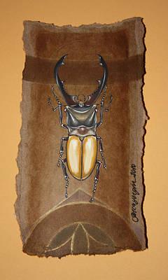Mixed Media - Beetle IIi by Gonca Yengin
