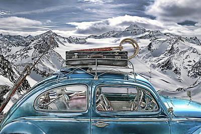 Beetle In The Alps Print by Joachim G Pinkawa