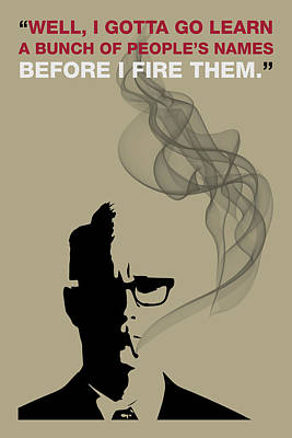 Sterling Digital Art - Before I Fire Them - Mad Men Poster Roger Sterling Quote by Beautify My Walls