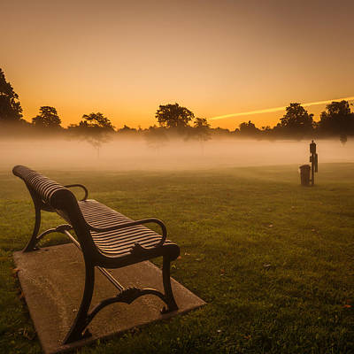 Fog Photograph - Before Tee Time by Chris Bordeleau