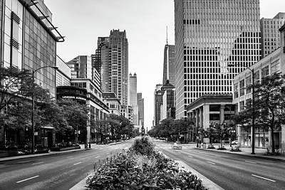 Magnificent Mile Photograph - Before The Rush by Daniel Chen