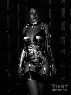 Fetish Digital Art - Beg For Mercy Bw by Alexander Butler