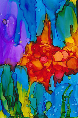 Atom Painting - Beginnings Abstract by Nikki Marie Smith