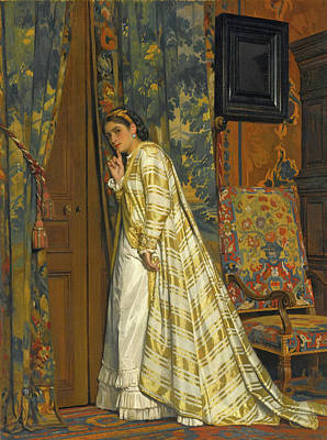 Charles Baugniet Painting - Behind Closed Doors by Charles Baugniet
