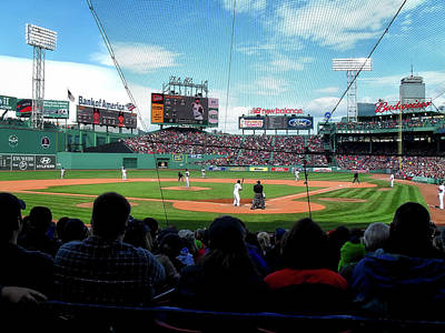 Behind Home Plate At Fenway Print by Autism Spectrum Counseling
