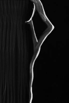 Lady Photograph - Behind The Curtain by Kiran Joshi