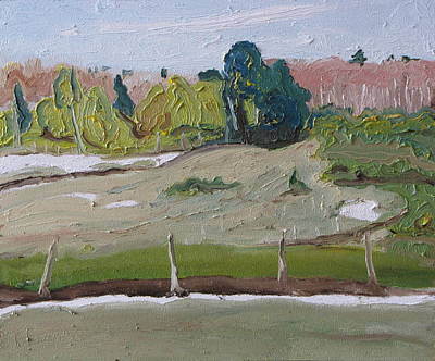 Arbres Verts Painting - Behind The Fence by Francois Fournier