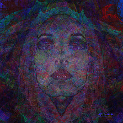 Madonna Digital Art - Behind The Veil by Diane Parnell