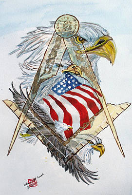 American Eagle Painting - Behind The Veil Outside The Box by Arlene  Wright-Correll