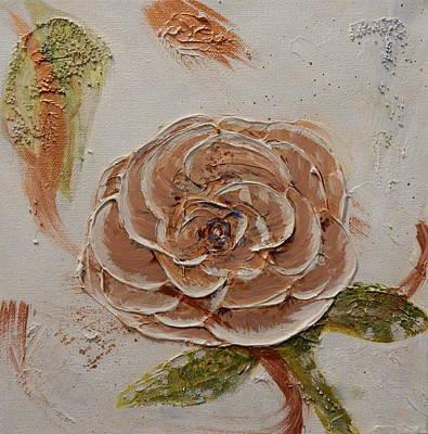 Beige Rose Original by Betty-Anne McDonald