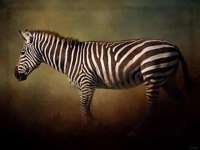 Jordan Painting - Being Unique - Zebra Art by Jordan Blackstone
