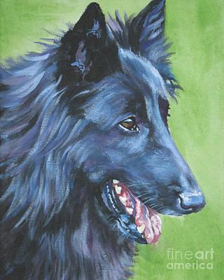 Shepherd Dog Painting - Belgian Sheepdog by Lee Ann Shepard