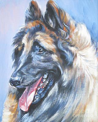 Shepherd Dog Painting - Belgian Tervuren by Lee Ann Shepard