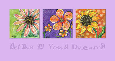 Believe In Your Dreams Print by Tanielle Childers
