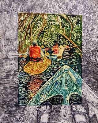 Canoe Mixed Media - Belize by Lauren Willson