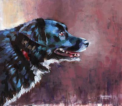 Pooch Painting - Bella by Douglas Simonson
