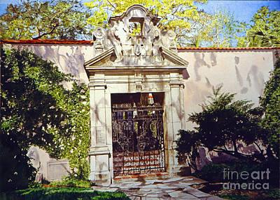Hotel Painting - Bellagio Gate by David Lloyd Glover