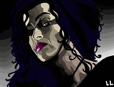 Deathly Hallows Digital Art - Bellatrix by Lisa Leeman