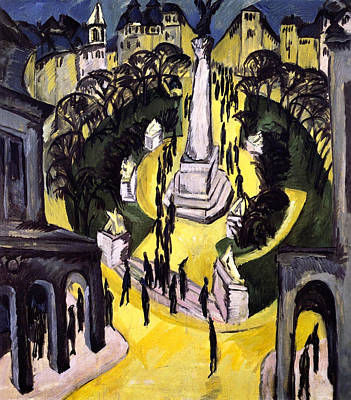 Perspective Painting - Belle-alliance-platz, Berlin by Ernst Ludwig Kirchner
