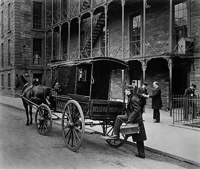 Bellevue Hospital Ambulance 1895 Print by Mountain Dreams