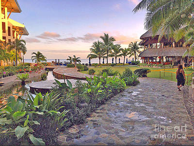 Bellevue Resort Panglao Island Philippines Print by Kay Novy
