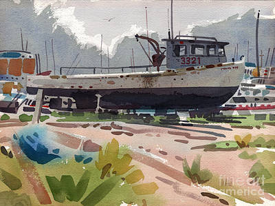 Belmar Boatyard Original by Donald Maier