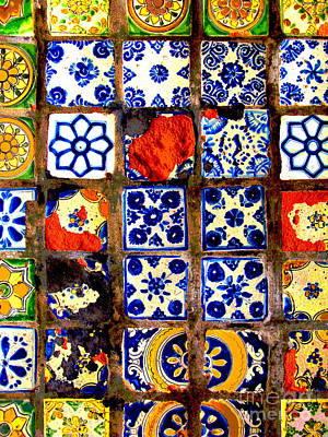 Ceramics Photograph - Belmar Tiles 2 By Darian Day by Mexicolors Art Photography