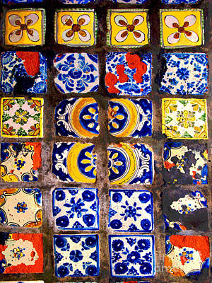 Folk Art Photograph - Belmar Tiles By Darian Day by Mexicolors Art Photography