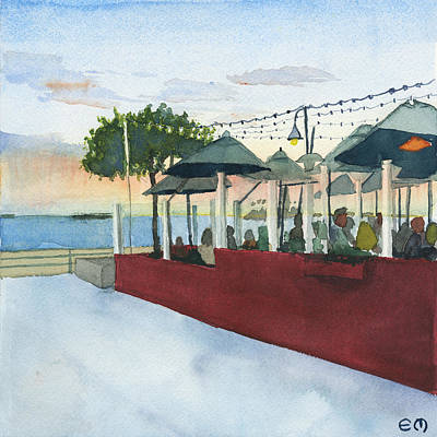 Belmont Brewery Sunset Original by Edward Morden