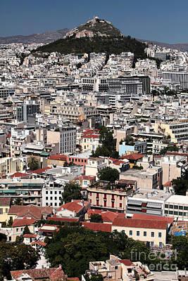 Greek School Of Art Photograph - Below Mount Lykavittos by John Rizzuto