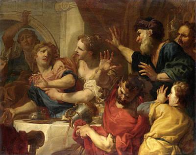 Painting - Belshazzar's Feast by Antonio Molinari