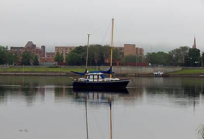 Mirror Imaging Photograph - Beluga Sails  by Wild Thing