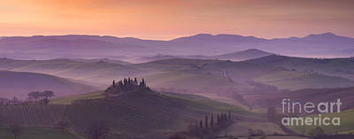 Belvedere And Tuscan Countryside Print by Brian Jannsen