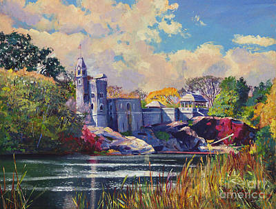 Castle Painting - Belvedere Castle Central Park by David Lloyd Glover
