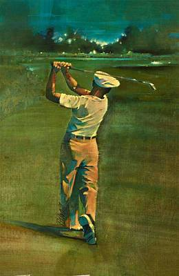 Us Open Mixed Media - Ben Hogan  by David Kilmer