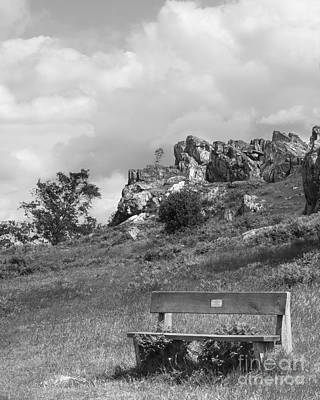 The Hills Mixed Media - Bench At Beacon Hill Leicestershire by Linsey Williams
