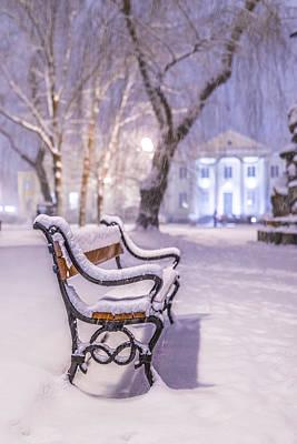 Snowscape Photograph - Bench by Jaroslaw Grudzinski