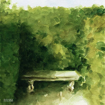 Contemplative Painting - Bench Parc De Bagatelle Paris by Beverly Brown Prints