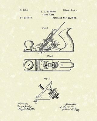 Bench Plane 1883 Patent Art Print by Prior Art Design