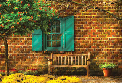 Window Bench Photograph - Bench - Please Have A Seat by Mike Savad