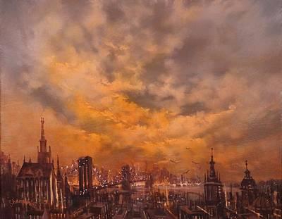 Beneath A Golden Sky Print by Tom Shropshire
