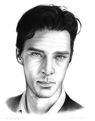 Shakespeare Drawing - Benedict Cumberbatch by Greg Joens
