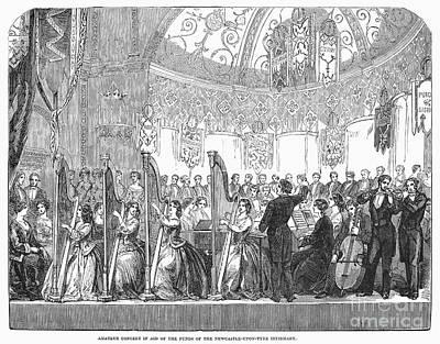 Benefit Concert, 1853 Print by Granger