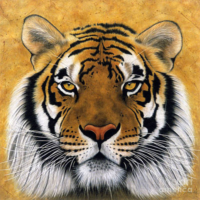 Tigers Print featuring the painting Bengali II by Lawrence Supino