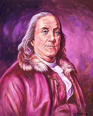 Benjamin Franklin Print by Ed Breeding
